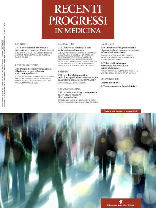2017 Vol. 108 N. 5 Maggio
