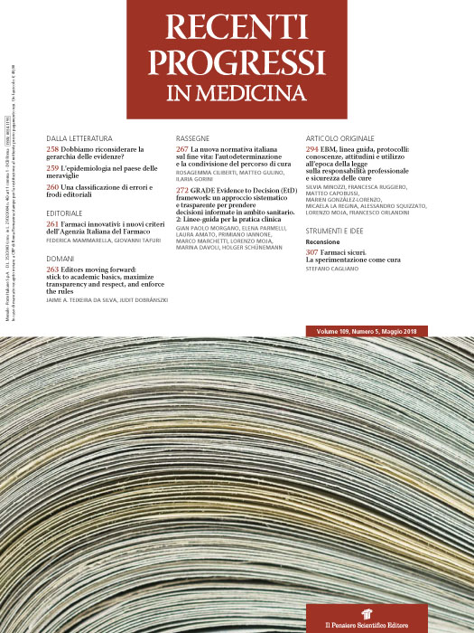 2018 Vol. 109 N. 5 Maggio