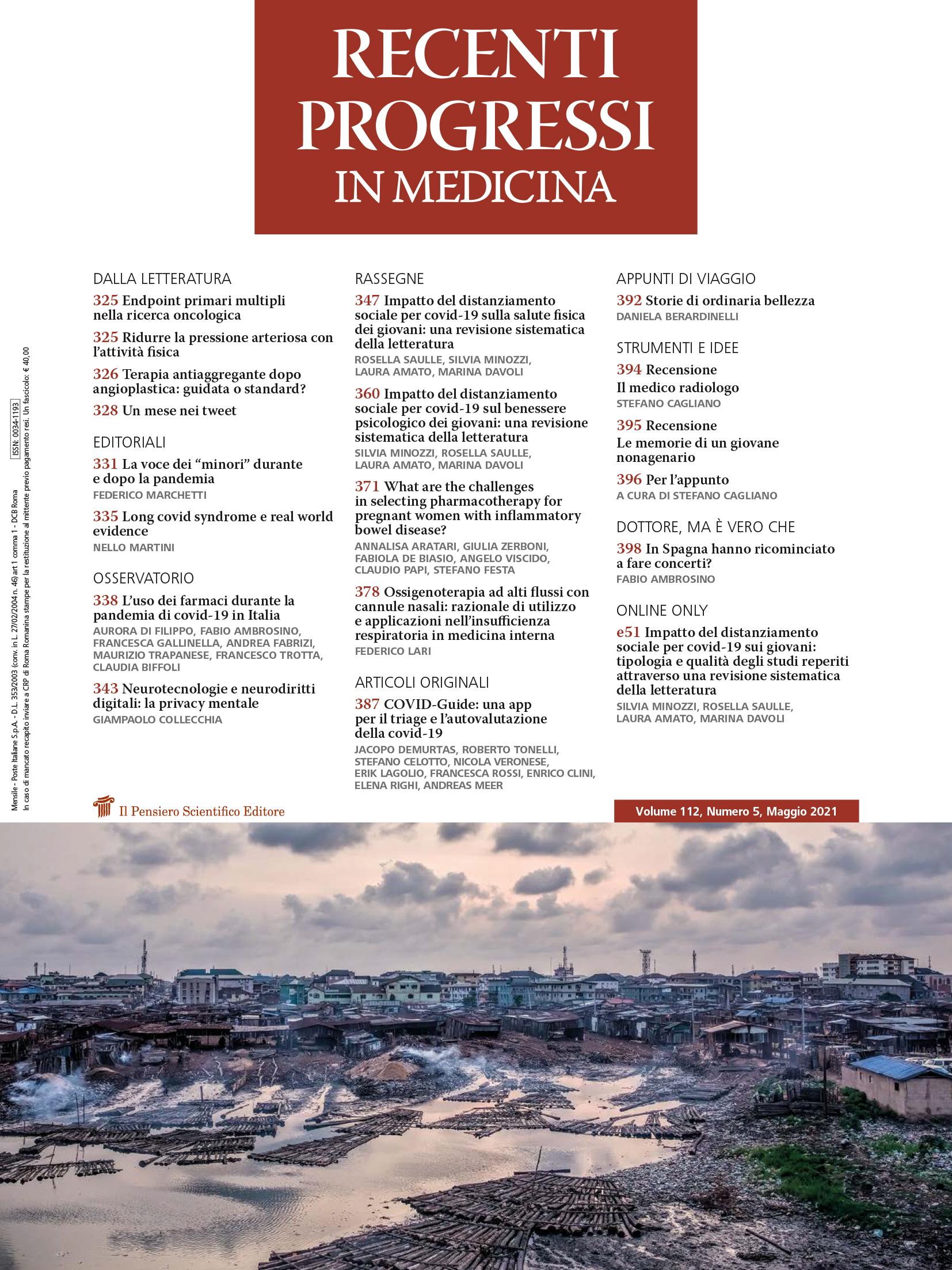 2021 Vol. 112 N. 5 Maggio